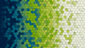 Het kleurrijke hexagon patroon abstracte 3D teruggeven vector illustratie