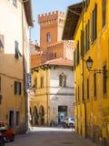 Het kleurrijke historische district in de stad van Pisa - PISA ITALIË - 13 SEPTEMBER, 2017 Stock Foto's