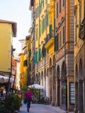 Het kleurrijke historische district in de stad van Pisa - PISA ITALIË - 13 SEPTEMBER, 2017 Royalty-vrije Stock Afbeelding