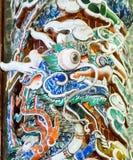 Het kleurrijke hoofd van de draaksteen Stock Foto