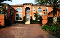 Het kleurrijke Huis van het Landgoed royalty-vrije stock afbeelding