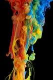 Het kleurrijke inkt wervelen Royalty-vrije Stock Foto