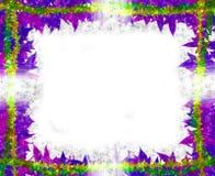 Het kleurrijke kader van de Bladeren [esdoorn] Grens op wit vector illustratie