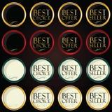 Het kleurrijke kenteken van de Cirkel Metaal beste prijs Stock Fotografie