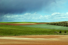 Het kleurrijke landschap van het land Stock Afbeelding