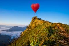 Het kleurrijke luchtballonnen vliegen Royalty-vrije Stock Foto's