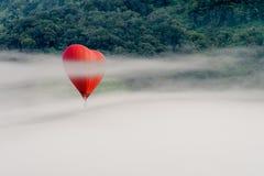 Het kleurrijke luchtballonnen vliegen stock afbeelding