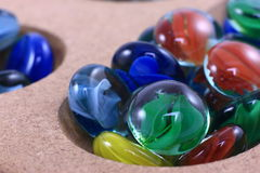 Het kleurrijke Marmeren Spel van het Glas Stock Foto