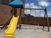 Het kleurrijke materiaal van de kinderenspeelplaats Stock Afbeelding