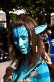 Het kleurrijke meisje maakte omhoog als Avatar Royalty-vrije Stock Foto's
