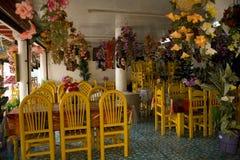 Het kleurrijke Mexicaanse Eiland Mexico van Janitzio van het Restaurant Stock Foto's