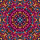 Het kleurrijke naadloze ontwerp van patroonmandala Stock Fotografie