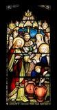 Het kleurrijke naadloze paneel van het gebrandschilderd glasvenster in Edinburgh Stock Foto
