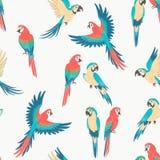 Het kleurrijke naadloze patroon van de arapapegaai Royalty-vrije Stock Afbeelding