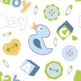 Het kleurrijke naadloze patroon van de babyjongen Stock Fotografie