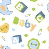 Het kleurrijke naadloze patroon van de babyjongen Royalty-vrije Stock Afbeeldingen
