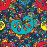 Het kleurrijke naadloze patroon van de bloemdaling Stock Fotografie