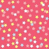 Het kleurrijke Naadloze Patroon van de Doughnutglans Stock Fotografie