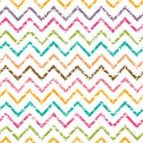 Het kleurrijke naadloze patroon van de grungechevron Stock Fotografie