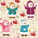 Het kleurrijke naadloze patroon van Kerstmis Royalty-vrije Stock Afbeeldingen