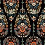Het kleurrijke naadloze patroon van Paisley royalty-vrije illustratie