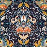 Het kleurrijke naadloze patroon van Paisley stock illustratie