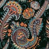Het kleurrijke naadloze patroon van Paisley vector illustratie