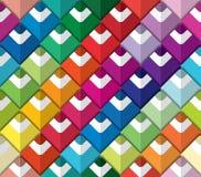 Het kleurrijke naadloze patroon van het potlodenpalet Document verwijderd kunstontwerp stock illustratie