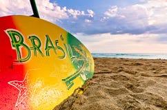 Het kleurrijke Ontwerp van Surboard Brazilië Stock Foto