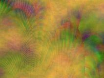 Het kleurrijke oranje groene rode blauwe spoorplasma abstracte schilderen Stock Fotografie