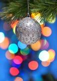 Het kleurrijke Ornament van de Kerstboom Royalty-vrije Stock Afbeeldingen