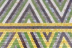 Het kleurrijke oude patroon van het tegelsdak Royalty-vrije Stock Foto