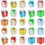 Het kleurrijke pak van de Kerstmisgift isoleerde het 3D teruggeven Stock Foto's