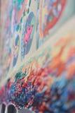 Het kleurrijke palet Boeddhistische thangka schilderen Royalty-vrije Stock Afbeeldingen