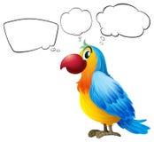 Het kleurrijke papegaai denken stock illustratie