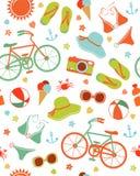 Het kleurrijke patroon van de de zomervrije tijd Stock Afbeeldingen