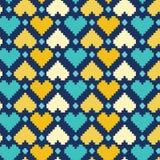 Het kleurrijke Patroon van Harten Royalty-vrije Stock Afbeeldingen