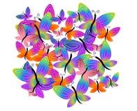 Het kleurrijke Patroon van Vlinders stock illustratie