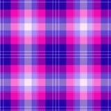 Het kleurrijke roze en blauwe Schotse naadloze patroon van de geruit Schots wollen stofplaid stock fotografie