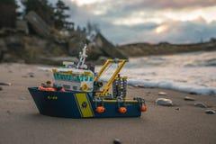 Het kleurrijke speelgoed van de lego plastic bouw Stock Afbeelding