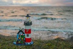 Het kleurrijke speelgoed van de lego plastic bouw Royalty-vrije Stock Foto's