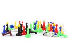 Het kleurrijke spel komt en dobbelt met dubbel zes voor Royalty-vrije Stock Foto