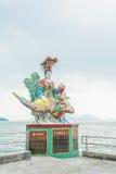 Het kleurrijke standbeeld bij Kwun-Yamtempel, Hong Kong Stock Fotografie