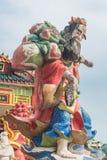 Het kleurrijke standbeeld bij Kwun-Yamtempel, Hong Kong Royalty-vrije Stock Foto