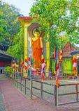 Het kleurrijke standbeeld van Lord Buddha Royalty-vrije Stock Foto