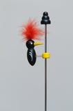 Het kleurrijke Stuk speelgoed van de Specht op pool Royalty-vrije Stock Afbeeldingen