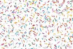 Het kleurrijke suikergoed bestrooit geïsoleerde op wit Royalty-vrije Stock Fotografie