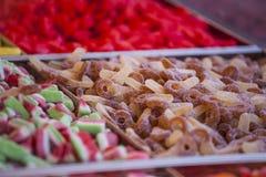 Het kleurrijke suikergoed en de gelei sluiten omhoog Stock Foto's
