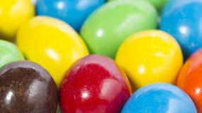 Het kleurrijke suikergoed van de chocolademelk Royalty-vrije Stock Foto's