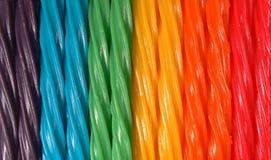 Het kleurrijke Taaie Suikergoed van het Zoethout Stock Afbeelding